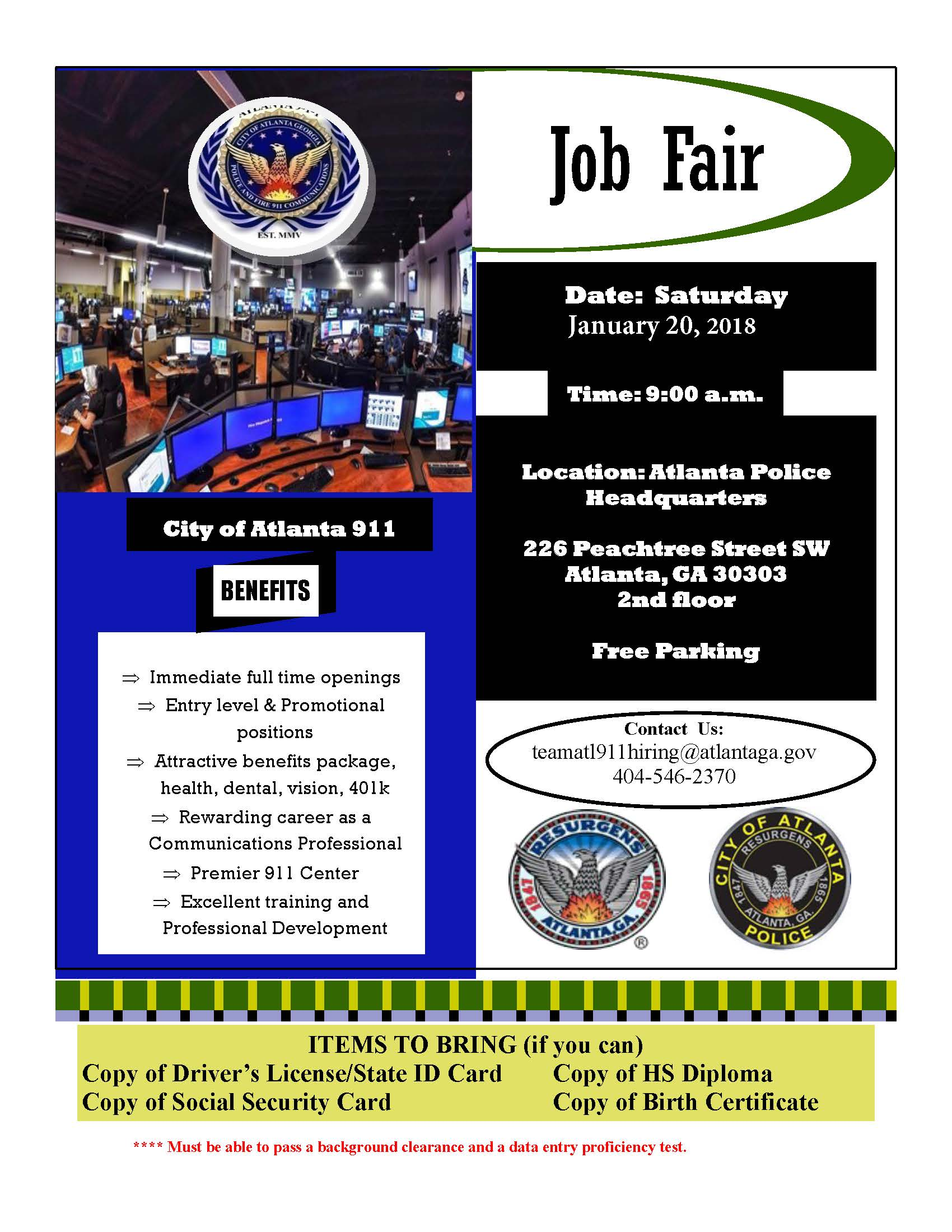 Job Fair flyer 1 20 18